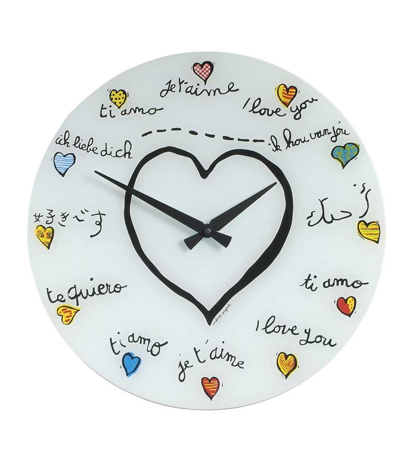Cheap Nextime Anytime Loving You Glass Wall Clock