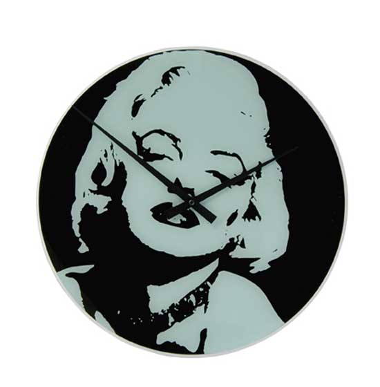 Cheap Nextime Anytime Marylin Glass Wall Clock