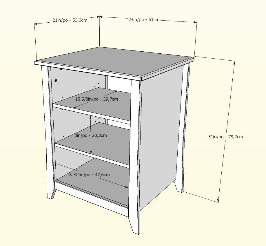 Nexera Tuxedo Stereo Cabinet