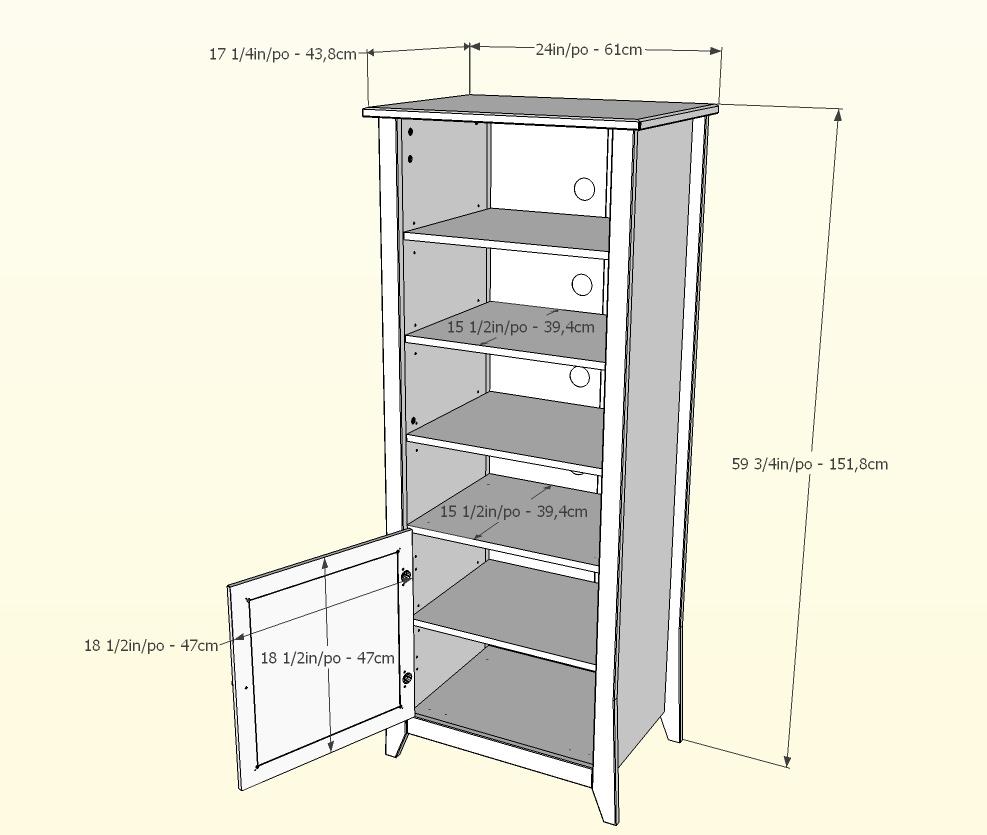 Nexera Vice Versa Curio Cabinet