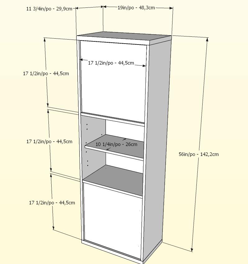 Nexera Liber-T 54 inch 2 Door Bookcase