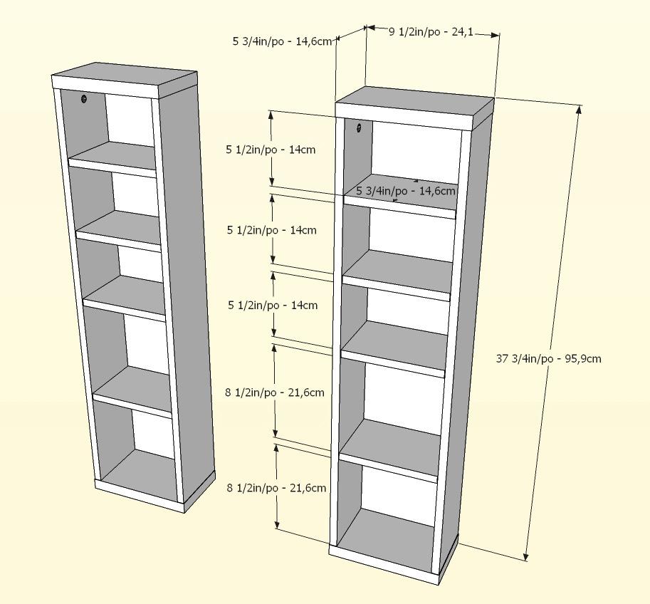 Nexera Liber-T CD/DVD Storage Towers (Pair)