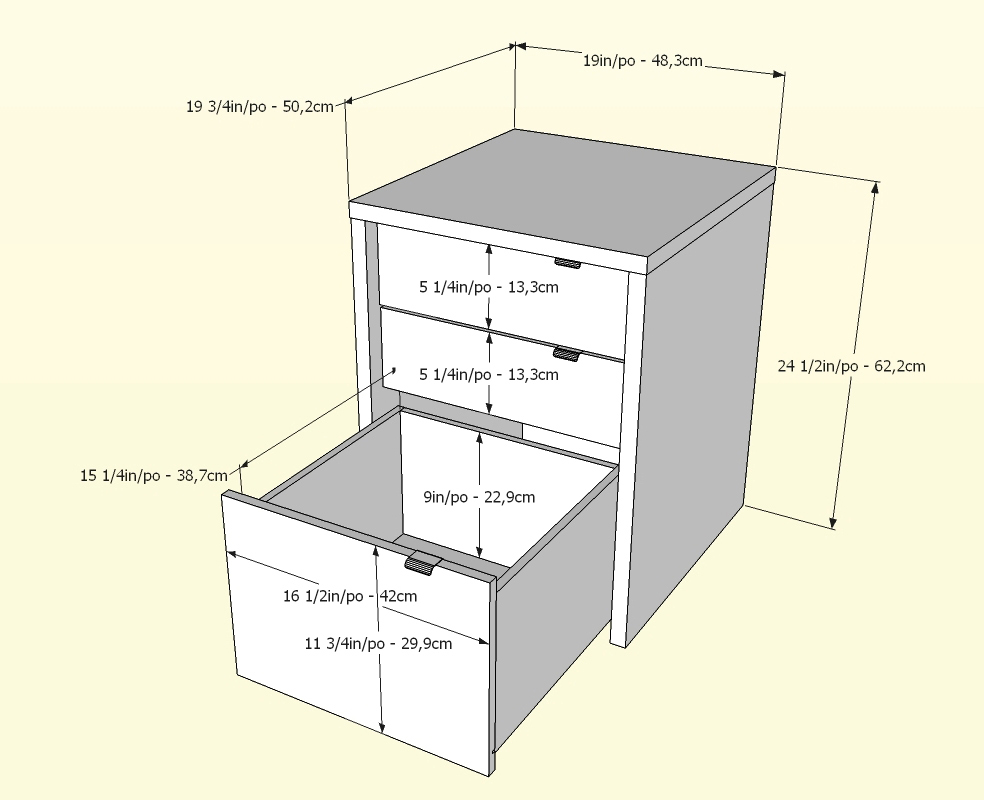 Nexera Liber-T 3 Drawer Unit