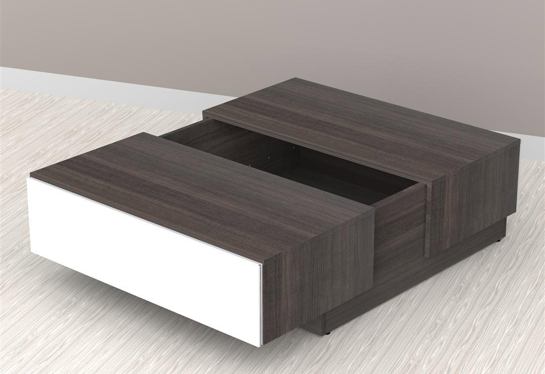 Nexera Allure Coffee Table with Hidden Storage