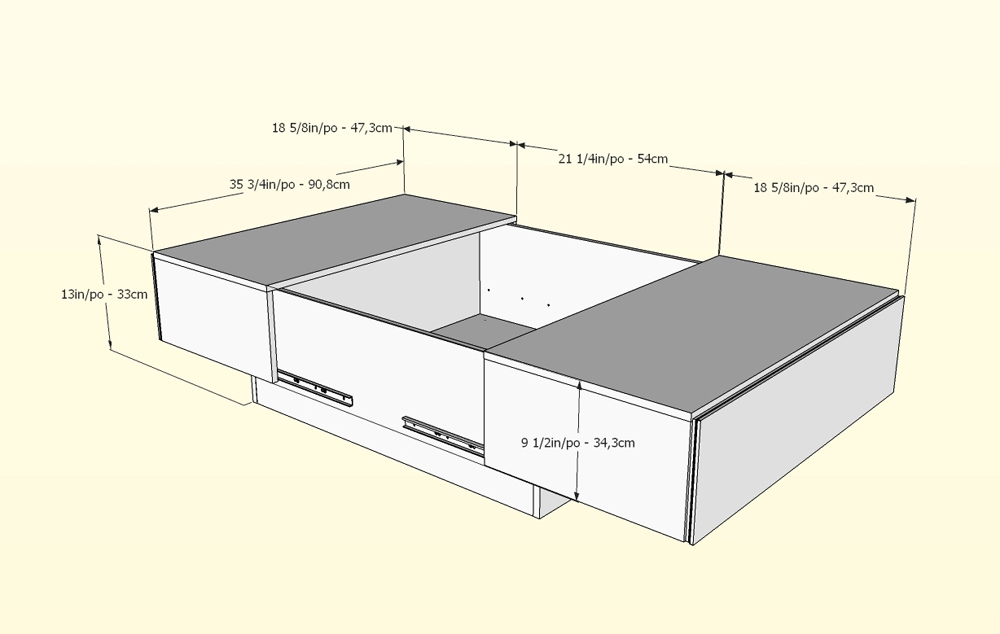 Nexera Allure Coffee Table With Hidden Storage