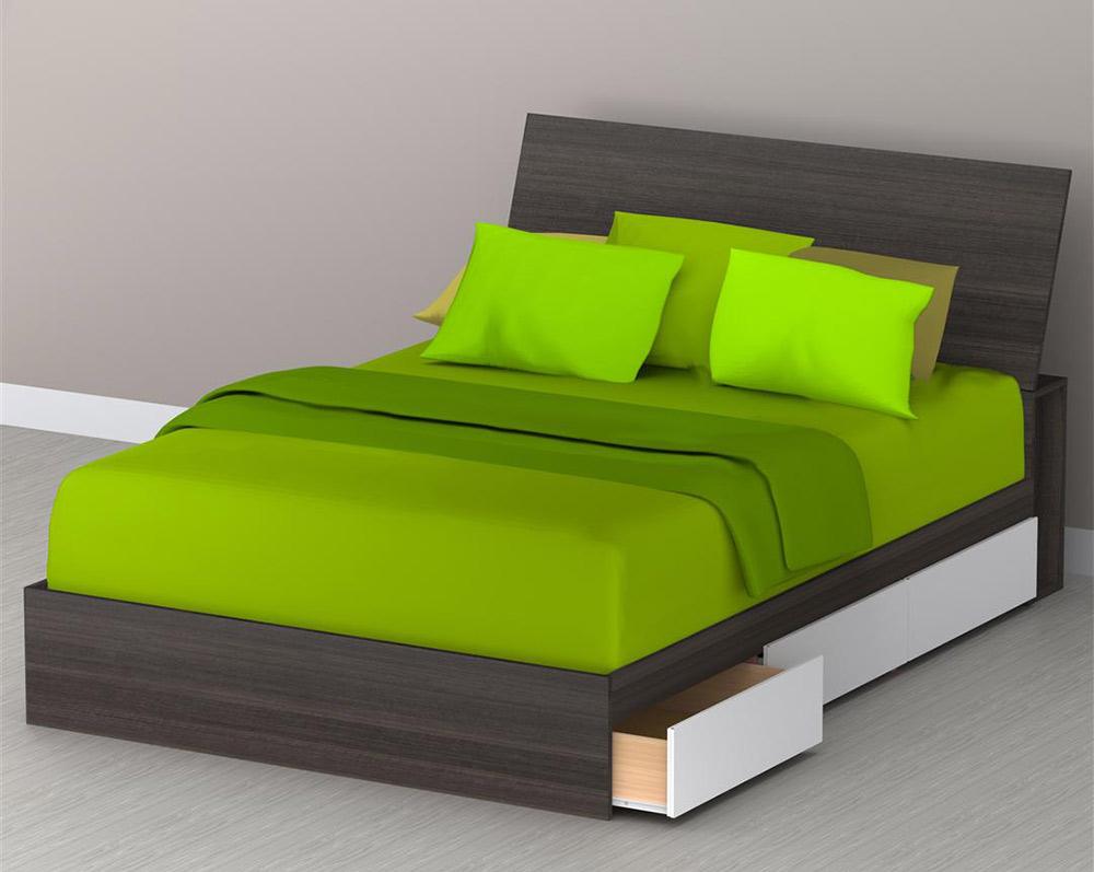 Nexera Allure Full Storage Bed