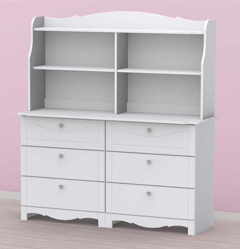 Nexera Pixel 6 Drawer Double Dresser