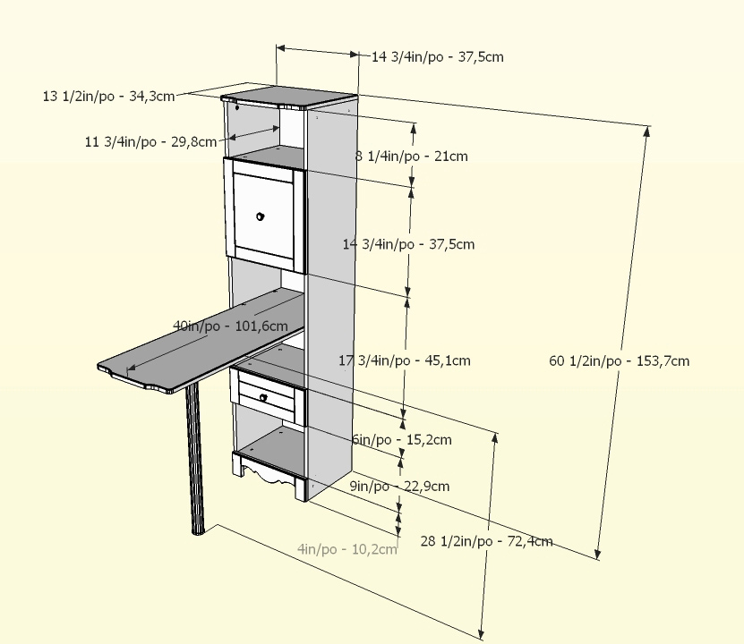 Nexera Pixel Bookcase Desk