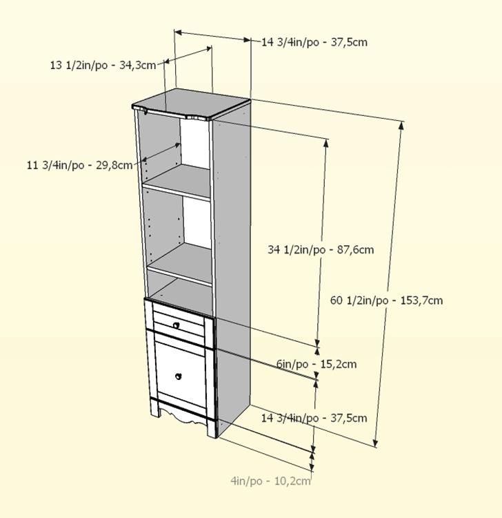 Nexera Pixel 60 inch Bookcase Tower