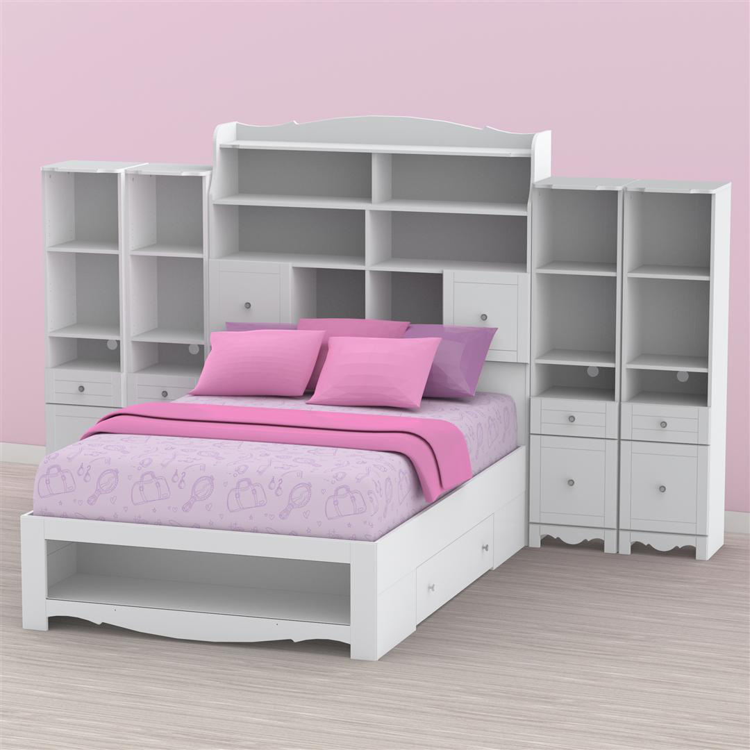 nexera pixel youth full size tall bookcase storage bedroom c
