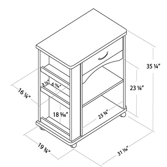 Nexera 597 Series Microwave Cart