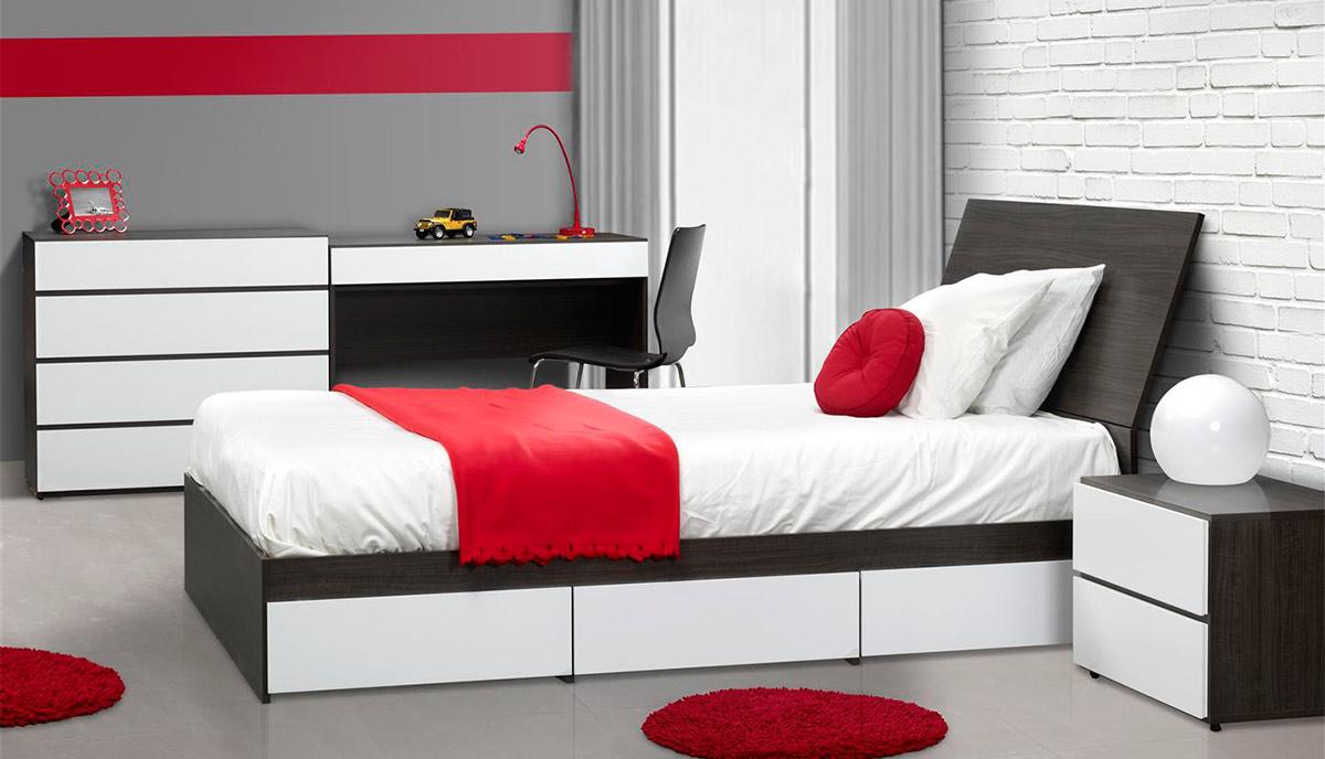 Nexera Allure Twin Storage Bed Set