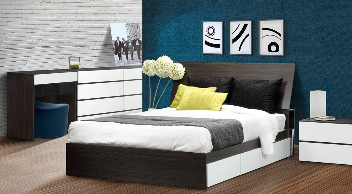 Nexera Allure Full Storage Bed Set
