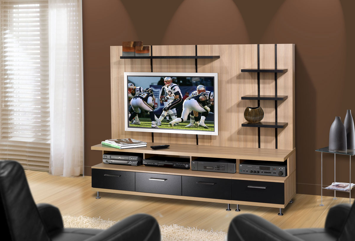 Nexera Eclipse Entertainment Center - Biscotti