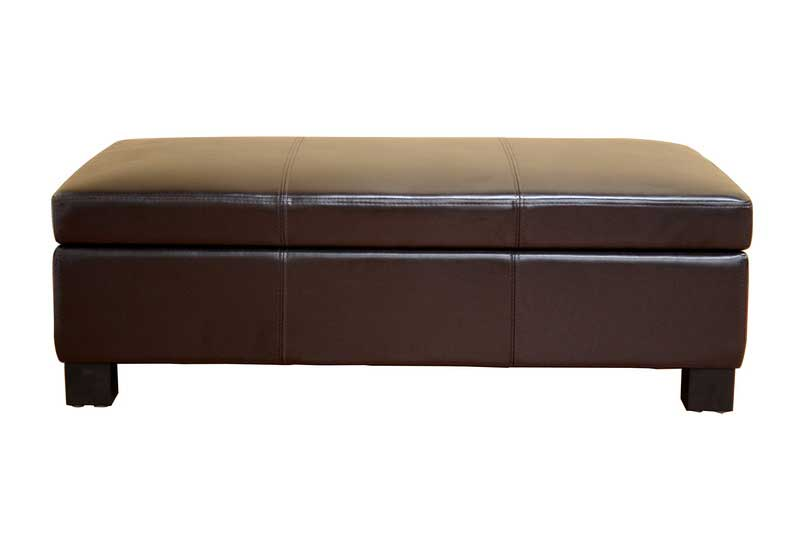 Wholesale Interiors Gallo Bonded Leather Storage Ottoman/Bench