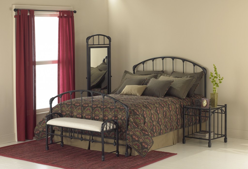 Fashion Bed Group Oscar Mirror in Tarnished Copper