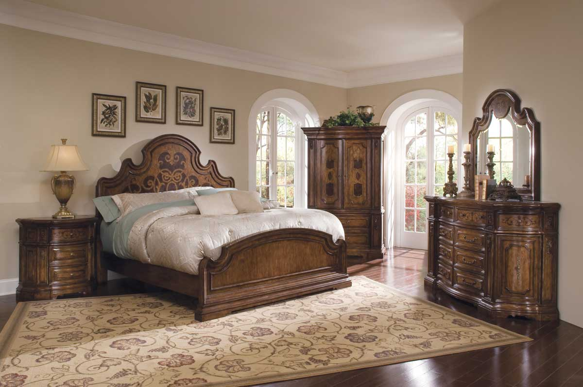 pulaski palazzo bedroom collection pf b713170 at. Black Bedroom Furniture Sets. Home Design Ideas