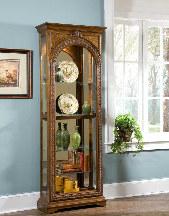 Cheap Pulaski Pepper Oak Curio