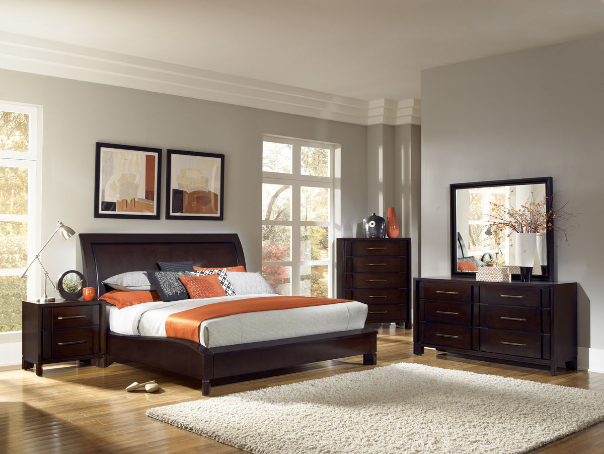 Pulaski Amaretto Bedroom Collection Pf 3651 Bed Set