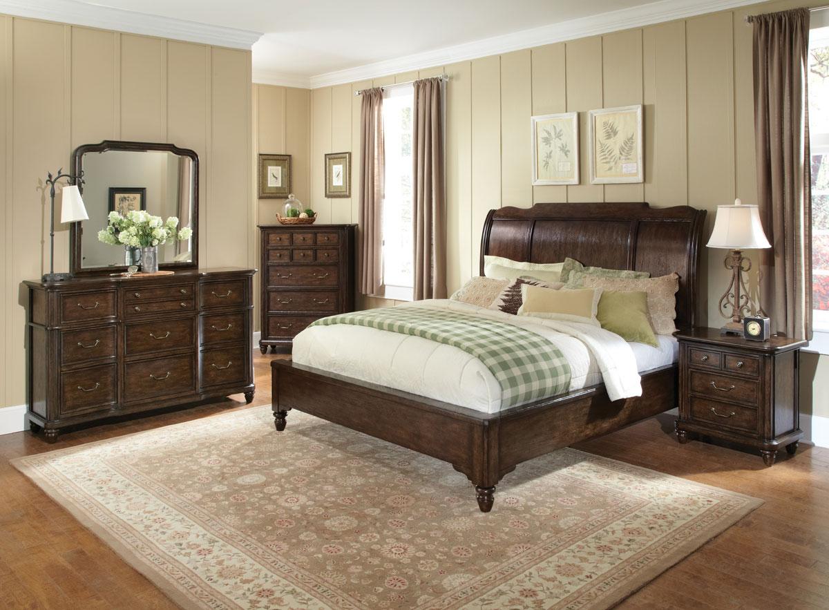 Pulaski saddle ridge bedroom collection pf 5081 platform bed set at for Bedroom furniture platform beds