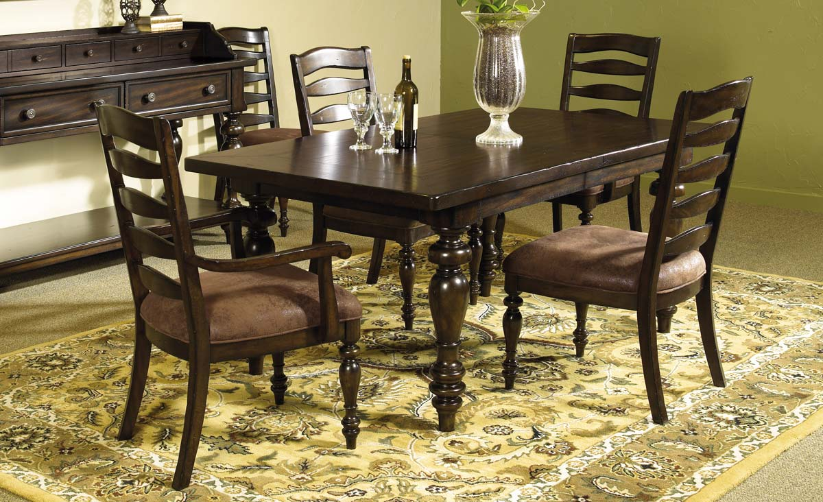 Pulaski Wedgewood Leg Table Dining Set Pf 546240 Set At