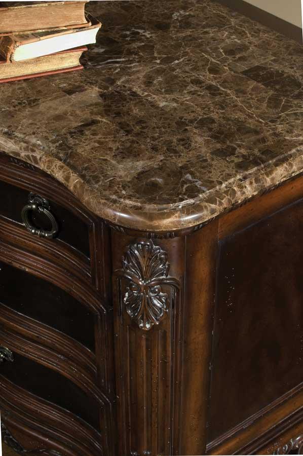 pulaski st. raphael marble top nightstand pf-642141 at homelement Marble Top Nightstand