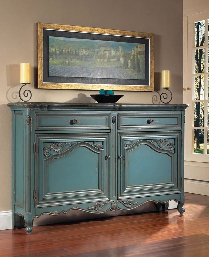 Cheap Pulaski French Blue Hall Console
