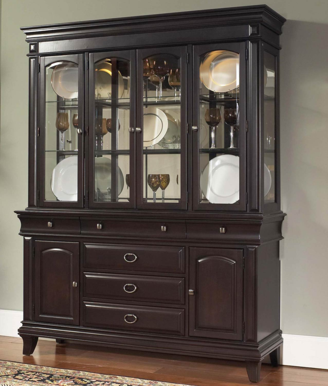 Pulaski Kendall China Cabinet Pf 8098 141 142 At