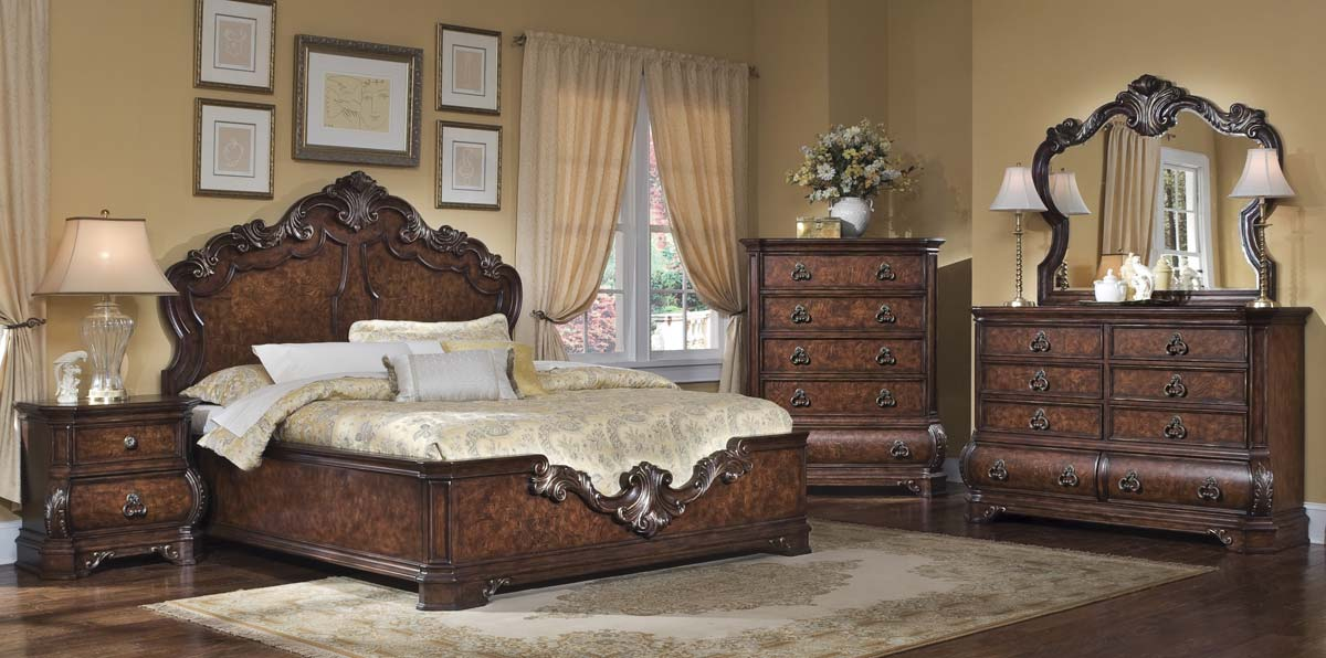 English Manor Bedroom Set Bed Mattress Sale