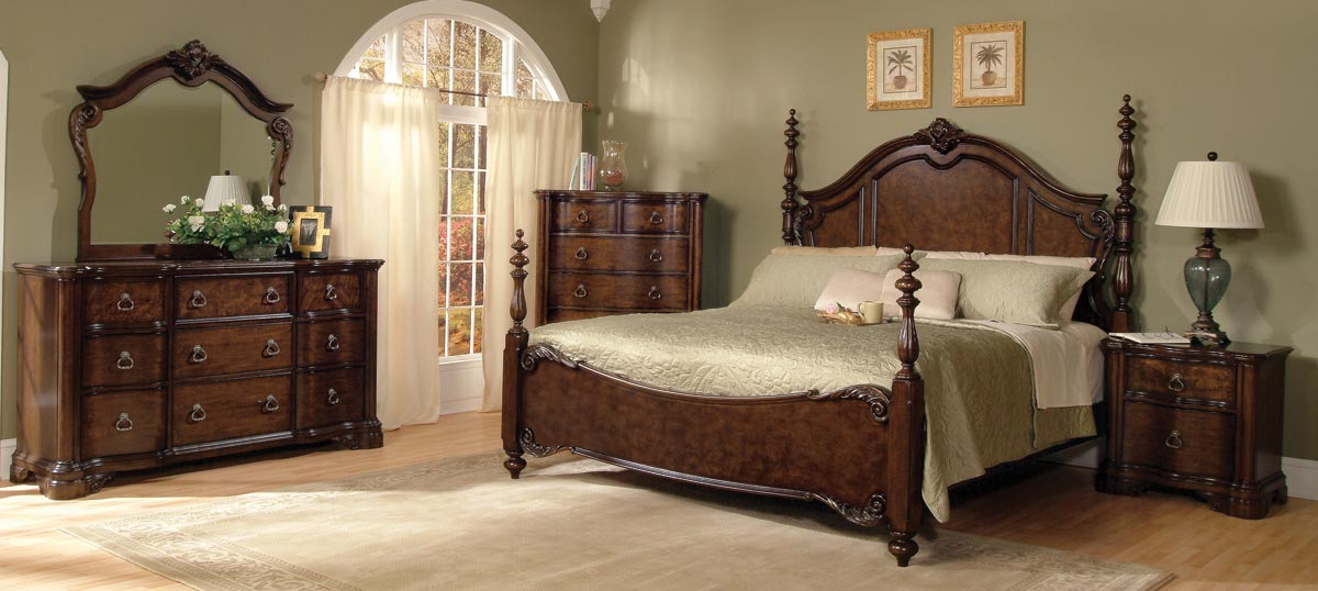 Pulaski hillsdale bedroom collection pf 963150 63set at for Bedroom furniture for less