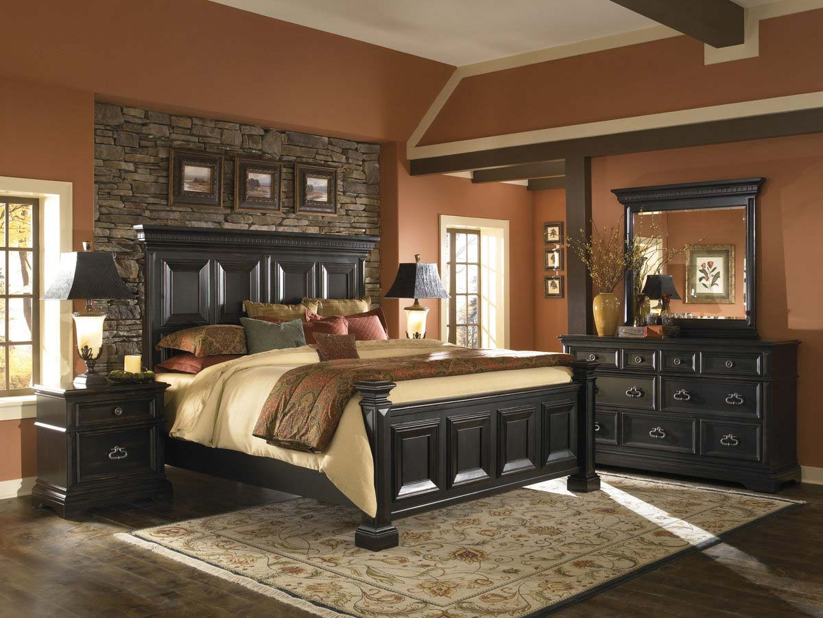 pulaski brookfield panel bedroom collection pf 9931 bed set at