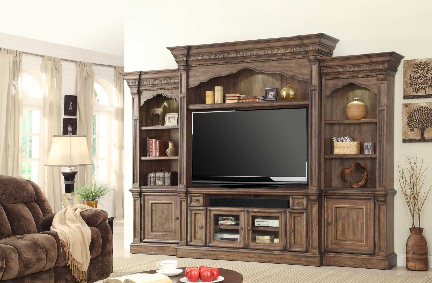 Perfect Parker House Aria 67in Entertainment Center Estate Wall Unit