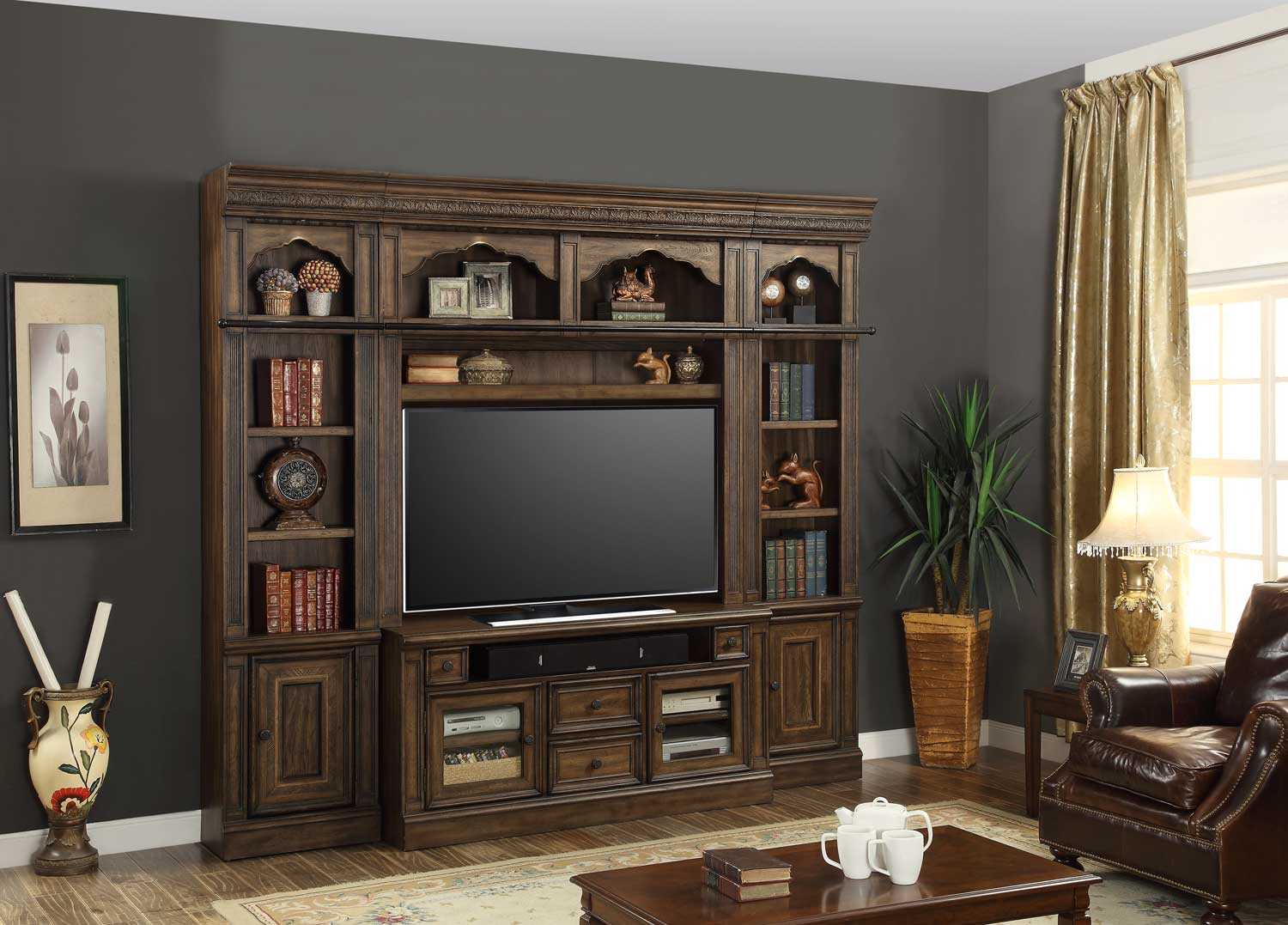 Parker House Aria Entertainment Wall Unit Set A Ph Ari Ent Wall Unit A At