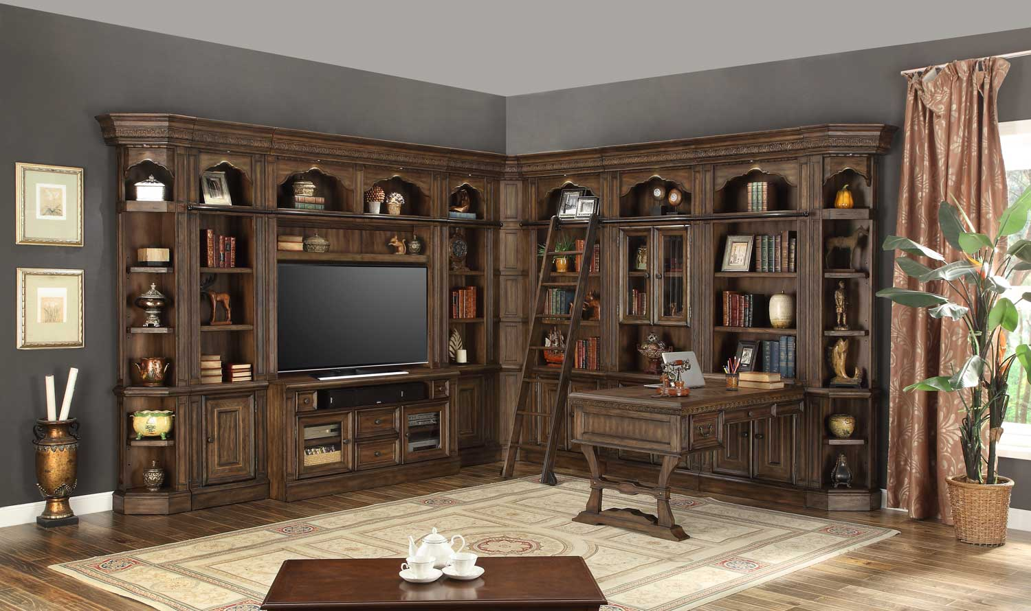 Parker House Aria Library Wall Unit A