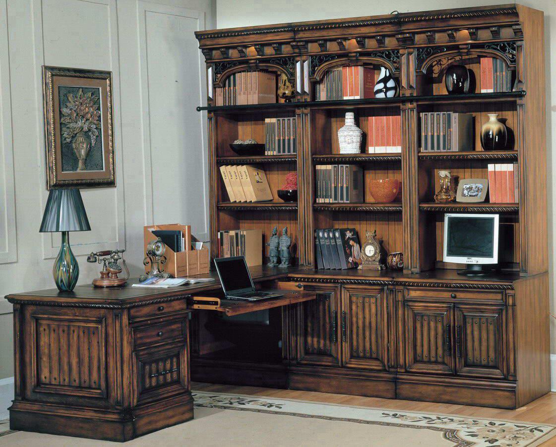parker house barcelona home office suite 8pc corner set ph-bar