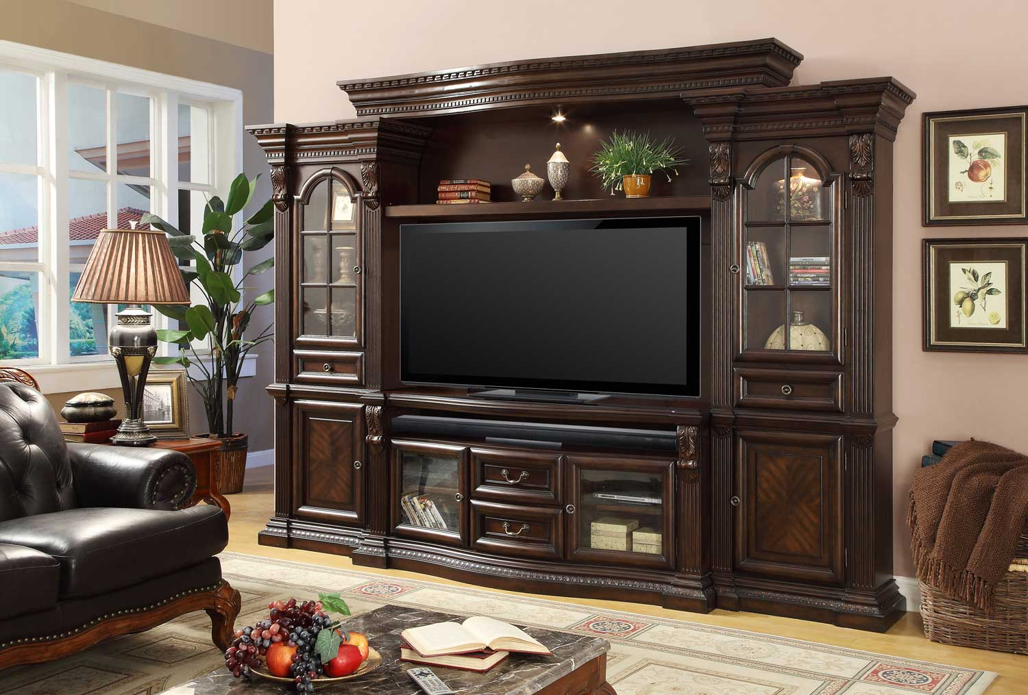 Parker House Bella 4 Pc Estate Wall Entertainment Center