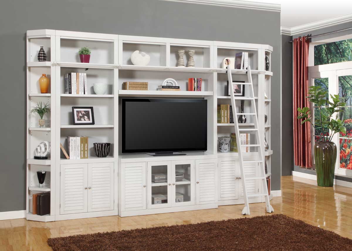 Parker House Boca Library Bookcase Entertainment Set - D