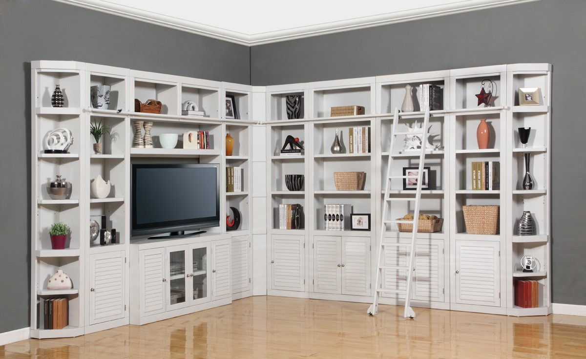 Rustic Traditional Living Room Wall Units