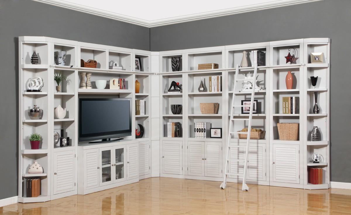 parker house boca library bookcase wall unit set  e phbocwall  - parker house boca library bookcase wall unit set  e