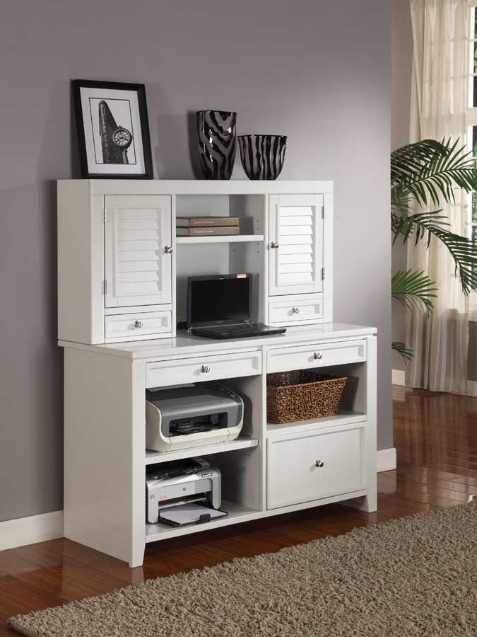 Parker House Boca 47in Credenza Desk with Hutch