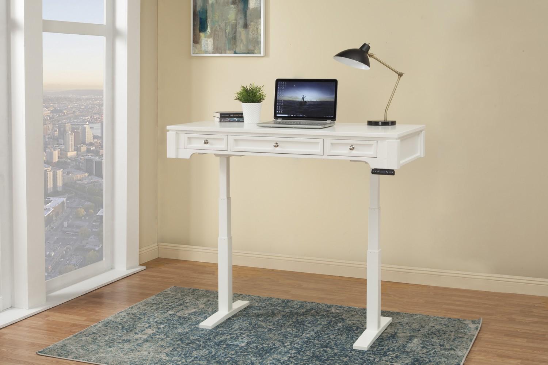 Parker House Boca 57-inch Power Lift Desk - Cottage White