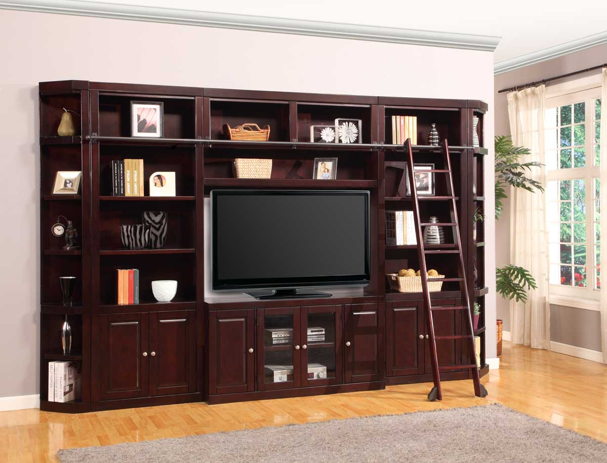 Parker House Boston Library Bookcase Entertainment Set - D
