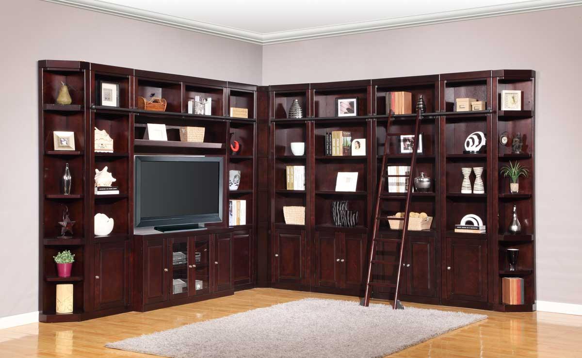 Parker House Boston Library Bookcase Wall Unit Set   D
