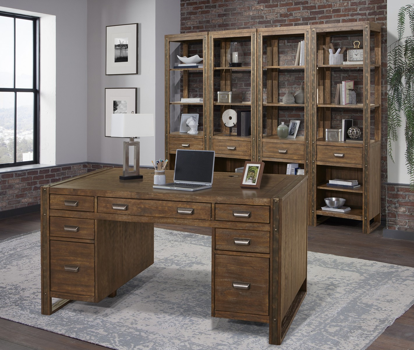Parker House Brooklyn Home Office Set 1 - Antique Burnished Pine