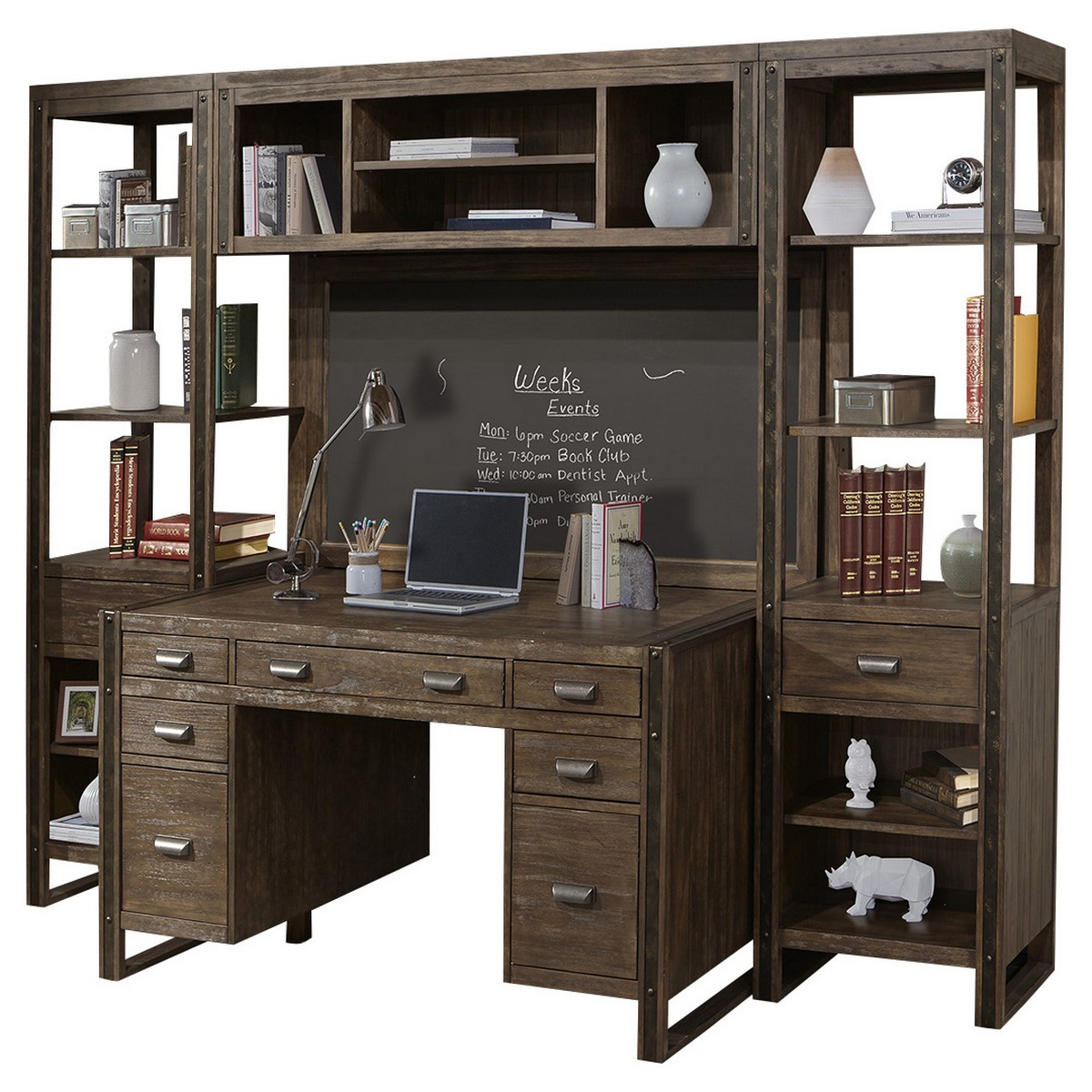 Parker House Brooklyn Home Office Set 2 - Antique Burnished Pine