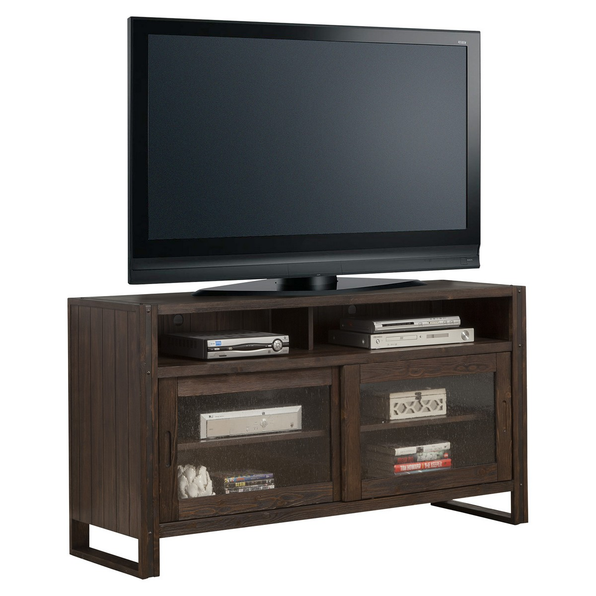 Parker House Brooklyn 60-inch TV Console - Antique Burnished Pine