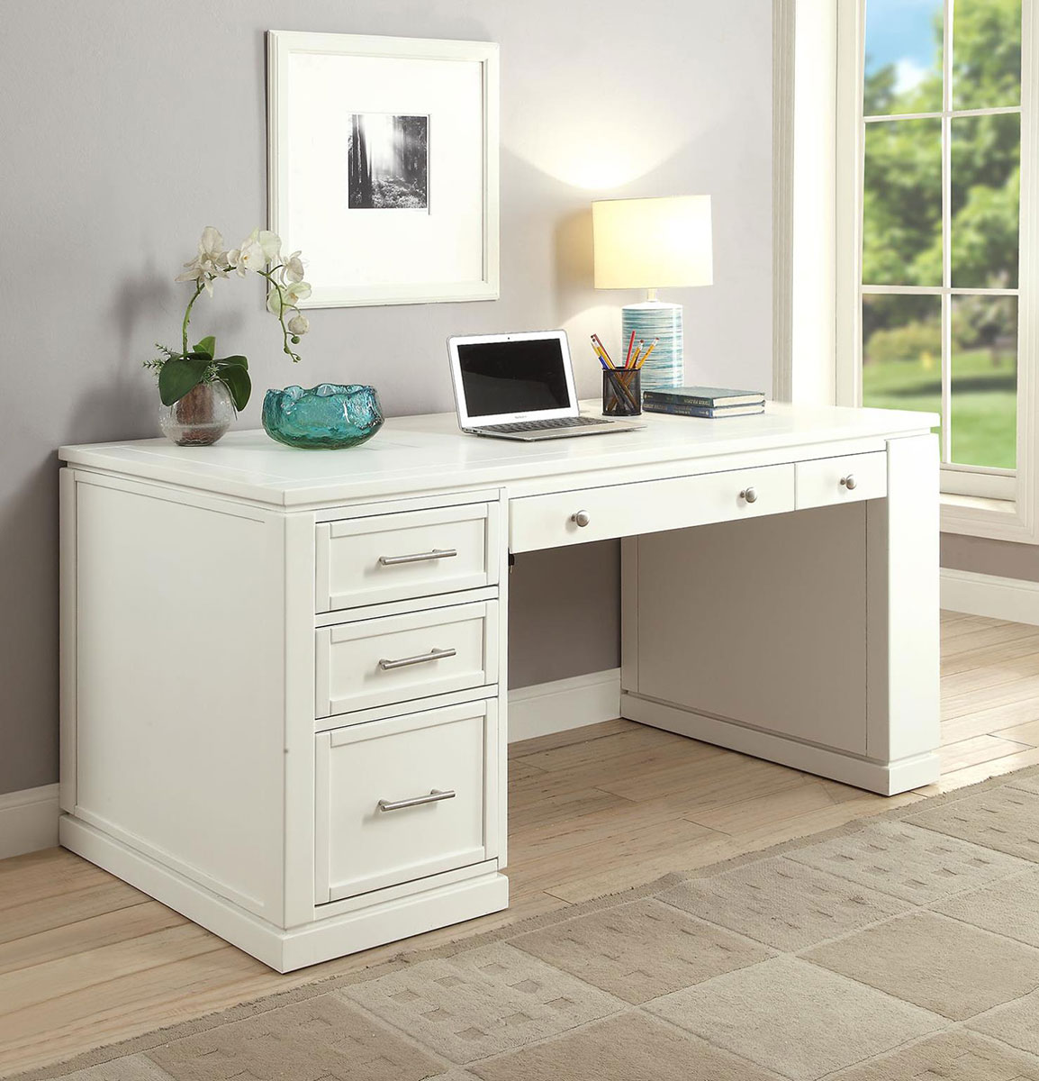Parker house catalina 60 inch writing desk with power center and usb