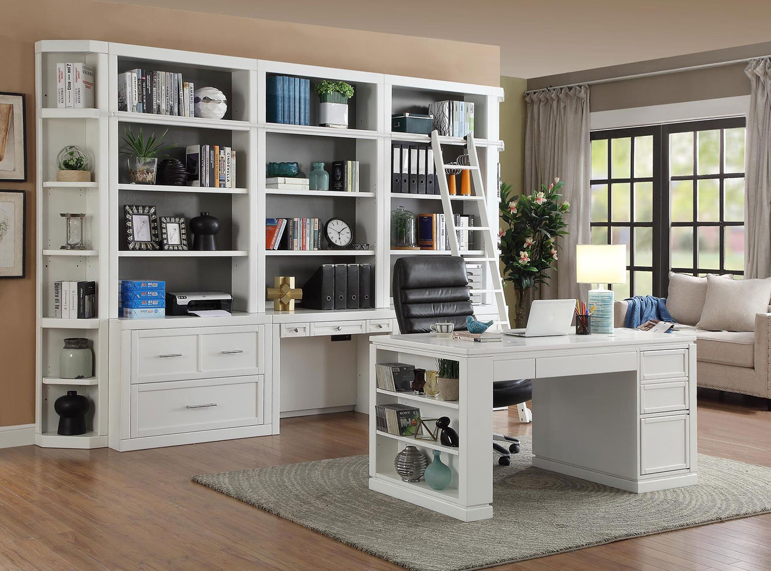Parker House Catalina Home Office Library Bookcase Set 2