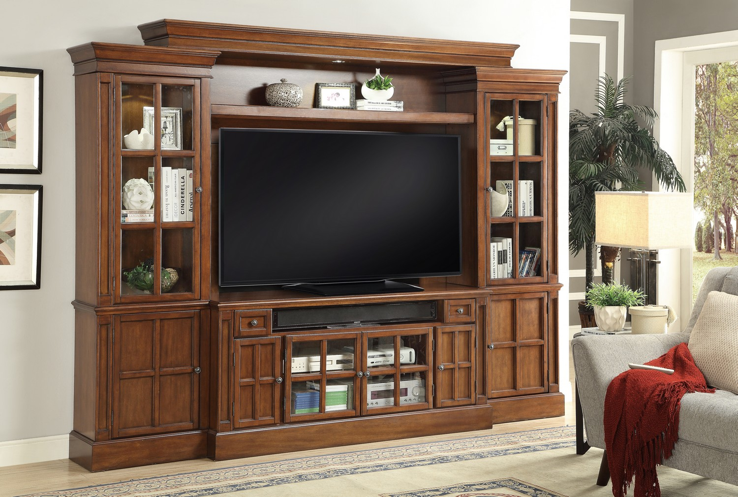 Parker House Churchill 4pc 62-inch Entertainment Wall