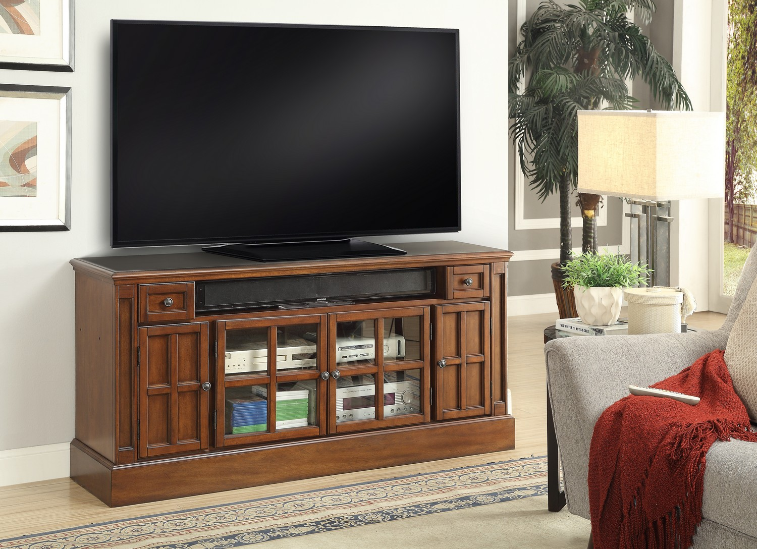 Parker House Churchill 62-inch TV Console with Power Center